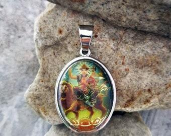 Indian Stlye Bhagavan Dorje Shugden Acrylic Pendant