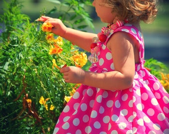 Minnie Mouse Dress, Pink Minnie Mouse Dress, Minnie Dress, Baby Girls Dress, Little Girls Dress, Minnie Mouse Party Dress