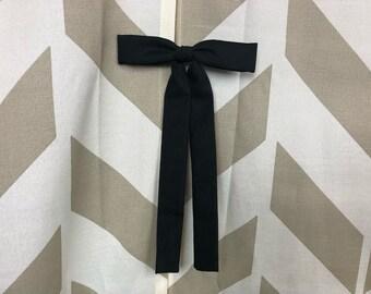 1950s Black Bolo Bow Tie | Black Bow Tie | Black Bolo | Vintage Bow Tie | Vintage Bolo Tie | Rockabilly Western
