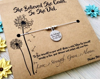 Graduation Gift For Her College Graduation High School Womens Gift Women Inspirational She Believed She Could So She Did Gift For Friend