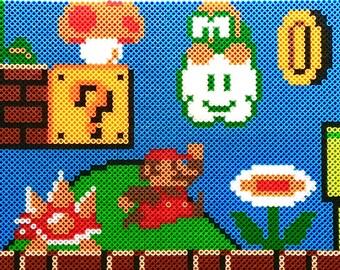 Super Mario Levels Pixel Patterns - Perler Beads - Cross Stitch - INSTANT DOWNLOAD