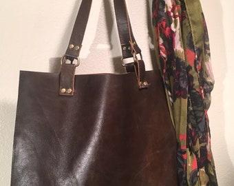Classic Brown Leather Shoulder Bag