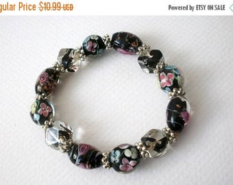 ON SALE Vintage Venetian Glass Hand Made Bracelet 72617