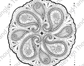 "Coloring Page - Zentangle® Inspired Art - ""ZIA 44"""