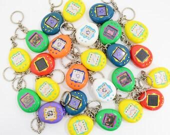 Vintage McDonalds Tamagotchi Keychains - YOU CHOOSE - Yellow, Purple, Blue, Orange, White, Red, Green - 90's Nostalgia, Retro Key Chain