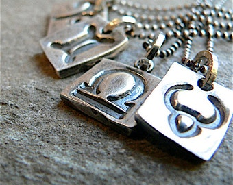 WHATs Your SIGN? Handmade ZODIAC sign Sterling Pendant Necklace, Unique - Like no other!, Industrial, Minimalist jewelry, Add  a Birthstone