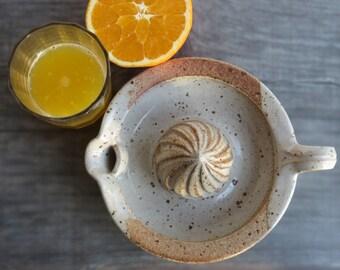 Ceramic citrus squeezer useful pottery lemon orange squeezer stoneware kitchen accessory ceramic gadget for food prep MADE TO ORDER