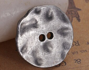 10 buttons antique silver shape irregular 20x16mm-fashion jewelry - SC0082256-
