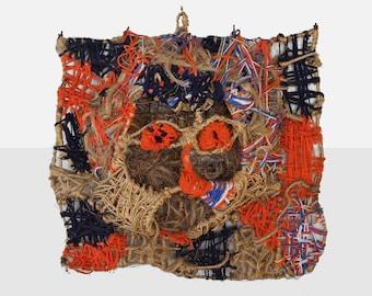 dorrance hill 'animal spirits' mask, outsider art sculpture, fiber arts mask, black art sculpture, black vernacular art, folk art sculpture