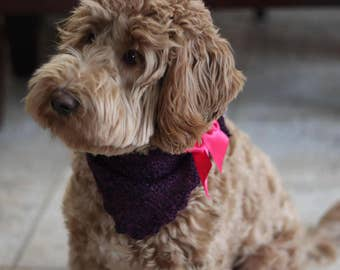 knitted dog bandana, accessories for dogs, pets knits