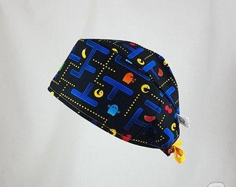 Surgical cap, Pac Man, SPECIAL EDITION, bies, surgical hats, scrub hats, cake shop, cotton 100%