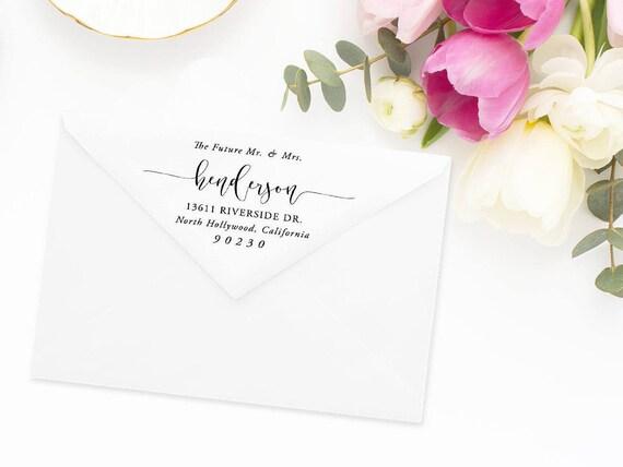 Return Address Stamp, Address Stamp, Custom Address Stamp, Wedding ...