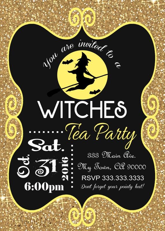 Halloween Party Invitation Teen Witch Halloween Invitation