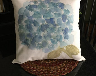 Pillow, floral pillow, spring flowers, Spring throw pillow, gift pillow, small floral pillow, watercolor pillow, watercolor flowers pillow