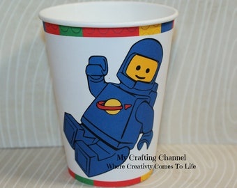 Lego Benny Birthday Party Cups,Lego,Benny,Party Birthday Cups,Party,Birthday-Cups