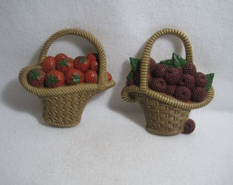 Burwood Products Fruit Baskets Wall Plaques 2722-1/2722-2