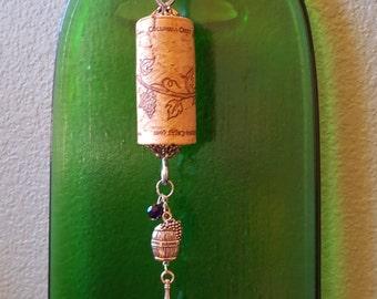 Wine Cork Ornament, Wine Cork Decor, Wine Bottle Charm
