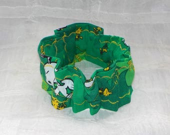 St Patricks Day (Scrunchie) Dog/Cat Collar Cover Small, Medium