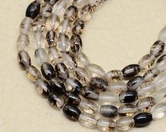 Very nice set of 8 5X4X4mm glass barrel beads