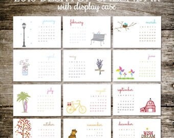 Calendar, 2018 Calendar, Calender for Desk, Office Calendar, Calendar for 2018, Calendar 2018, Valentine's Day Gift
