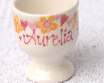 personalised egg cup, children