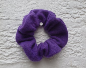 Violet pure wool cashmere hair care accessories. Two purple bun holder accessory set, ultra goth gifts for her, teens ecofriendly handcraft.