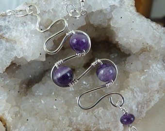 Amethyst Necklace, Amethyst Pendant, Purple Necklace, Amethyst Jewelry, February Birthstone, Sterling Silver Necklace, Silver Necklace