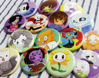 "Undertale 1.25"" Pinback Button Pins"