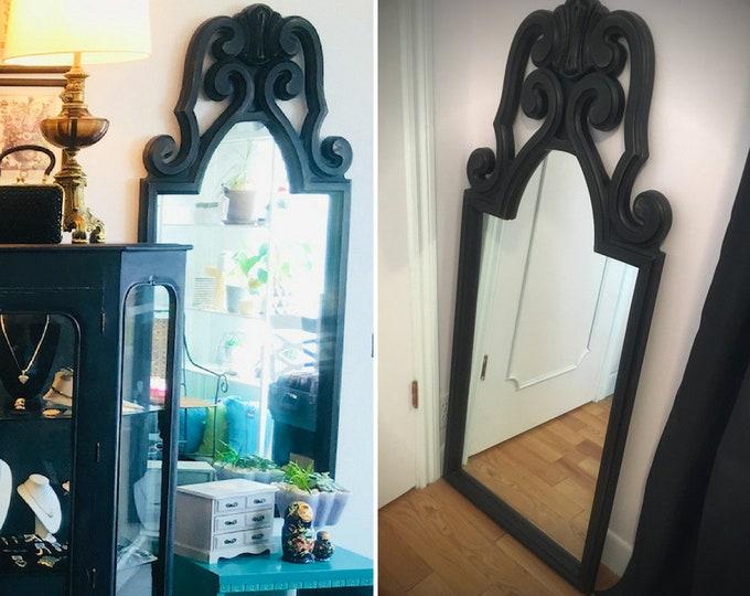 Upcycled big vintage vertical mirror