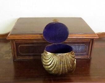 Dads Grads Sale Brass Clam Shell Minaudíere Art Deco Evening Bag- Very Nice
