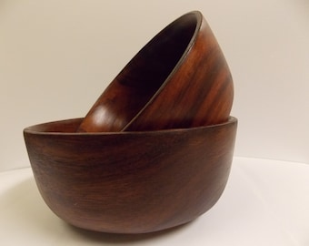 Wooden Bowls/ wood serving bowls/ handmade wooden bowls/natural organic grains and rustic colors/ made in Haiti.