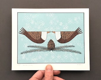 Winter Birds - Limited Edition Original Screenprint