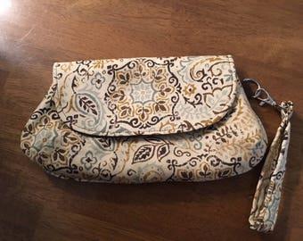 Wristlet, Clutch, Removable Wrist Strap, Small Fabric Bag