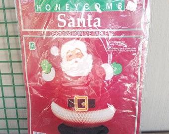 Jolly vintage honeycomb Santa