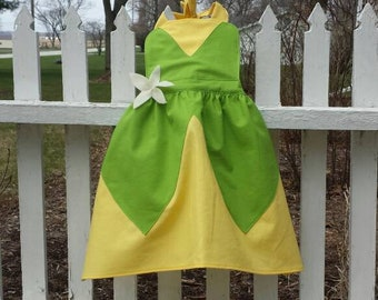 Girls Tiana Princess and the Frog Inspired Apron