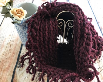 Chunky Cowl with Fringe
