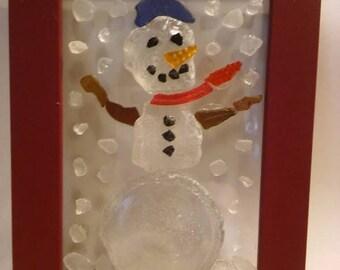 Sea Glass Snowman Mosaic