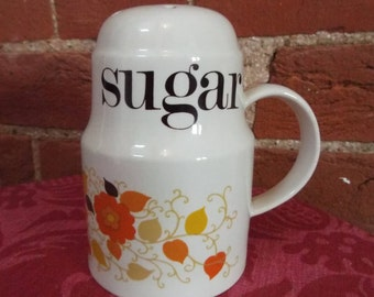 Cute Vintage Sugar Shaker - 70s seventies retro