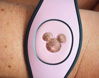 Rose Gold Mickey Head Magic Band Decal/Magicband/Millennial Pink/Mickey Decal