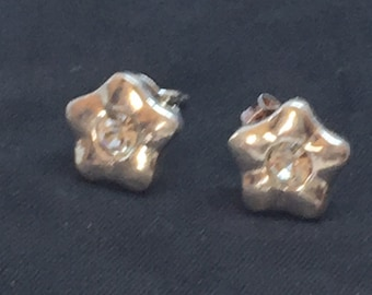Floral Earring made of 925 silver with Swaroski crystal element