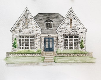 House Painting Watercolor / custom home watercolor / New Home Gift / Realtor Gift / Watercolor House Portrait / moving away gift