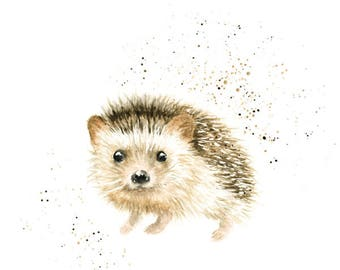 hedgehog art, hedgehog gifts, hedgehog print, hedgehog art print, animal print, cute animals art, woodland animals, animal art, woodland