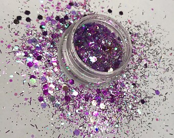 Purple haze - face and body festival glitter