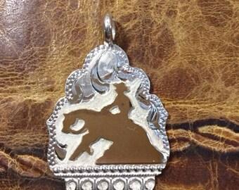 Reiner pendent/ Artisan Handmade/ Sterling Silver and 12kt goldfill