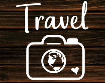 Travel Decal-Mountain Decal- Car Decal-Travel-Phone Decal-Yeti Decal-Journey-Hiking - Travel - Adventure