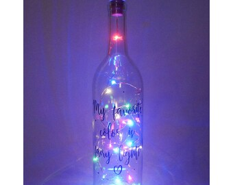 Fairy lights decor, fairy lights decorations, bedroom decor, wine bottle lights, colored string lights, lighted wine bottles