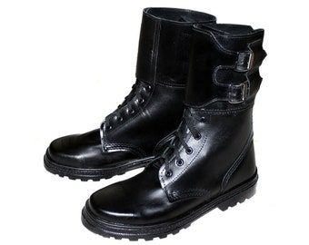 Russian Army Spetsnaz leather Special Forces OMON boots with buckles