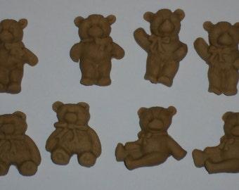 Small Brown Edible Teddies  x  8