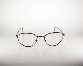 Metropolis Mod 8667 Col 931 Made in Italy CE Unisex 53-20-140 Vintage Frames Red/Multicolor Metal NOS Deadstock - Free Shipping-METF224J-1