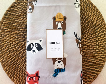 Cotton fitted sheet - Animal Parade